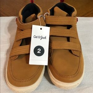 Boy High Top Shoes Tan Cat & Jack NWT